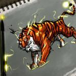 Tiger by @vkolart