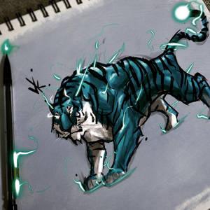 Ice Cold blue Tiger @vkolart