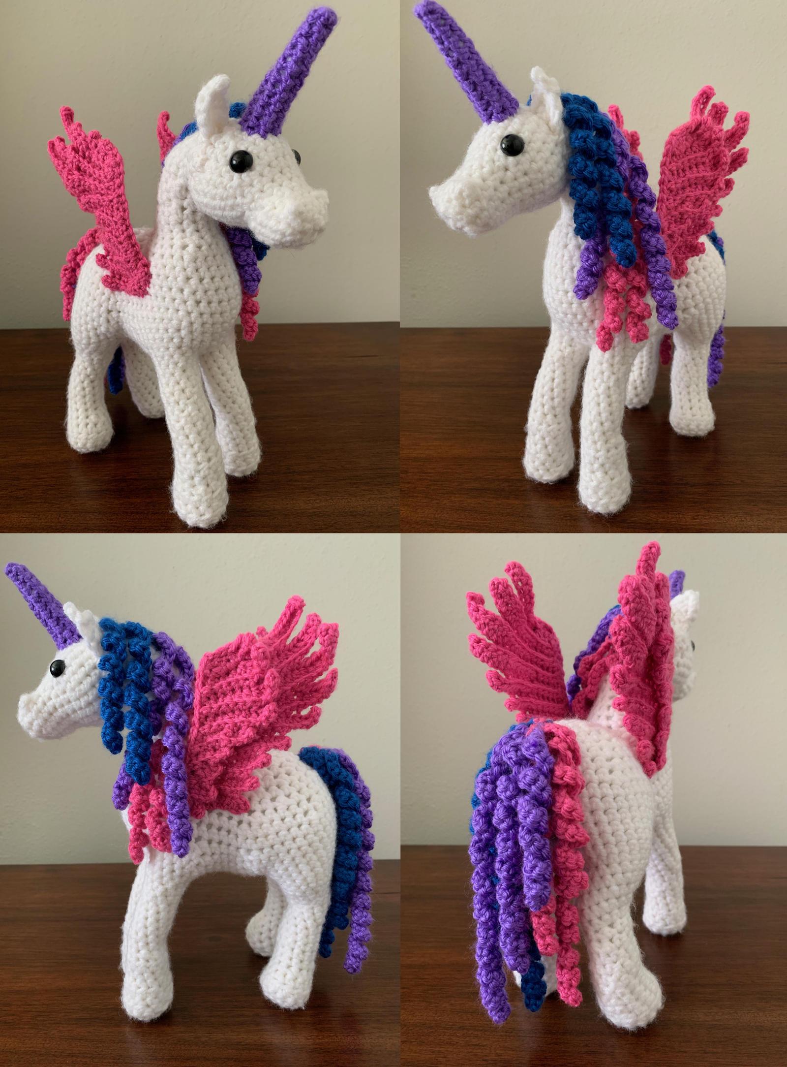 Rainbow pony amigurumi pattern | Amigurumi, Crochet toys patterns ... | 2168x1600