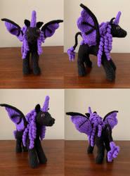 Purple Demon Pony Amigurumi Plush