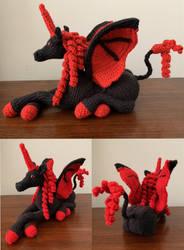 Demon Unicorn Amigurumi Plush