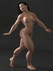 Muscle Girl - Dance by StormaAmarula