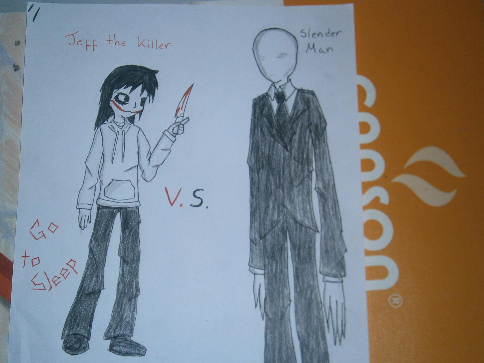 Jeff The Killer Vs Slenderman By Len30kagamin On Deviantart