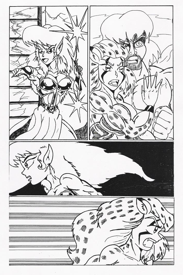 Manga Page Test With Britanny by Lonzo1