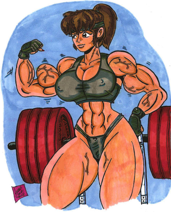 Akiko Daimon Colored by Lonzo1