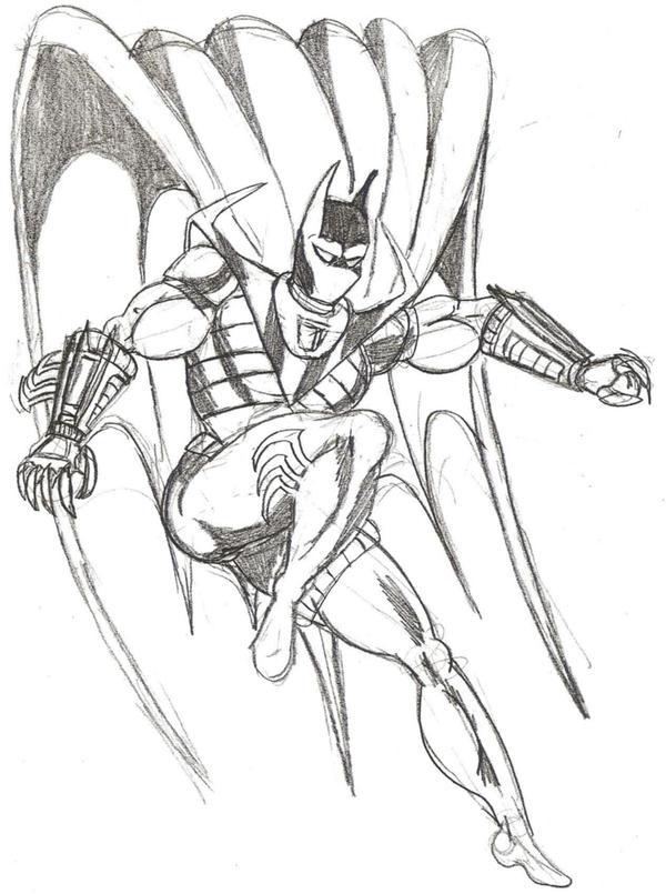 Knightfall Batman Sketch by Lonzo1