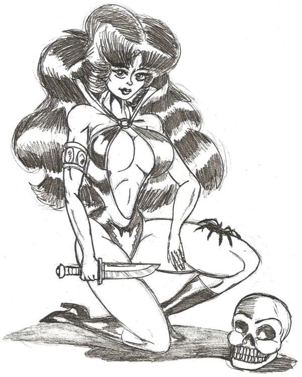 Vamperella Sketch by Lonzo1