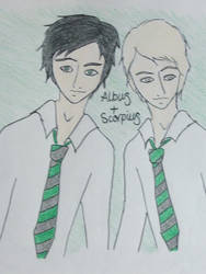Albus and Scorpius. by Dormy-Potter