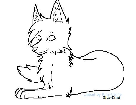 Lying Down Wolf by Blue-Kimi on DeviantArt  Lying Down Wolf...
