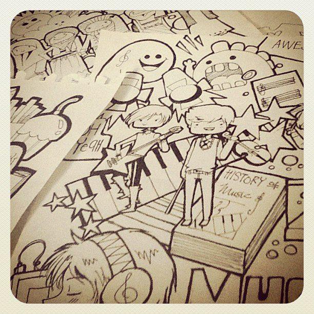 Music Doodles by Zazapyon