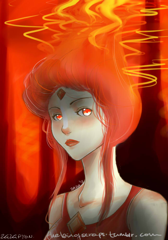 Fire Elemental / Flame Princess by Zazapyon