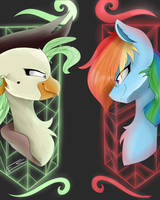 ~ Rainbow Dash and captain Celeano ~ by FeatherShine1