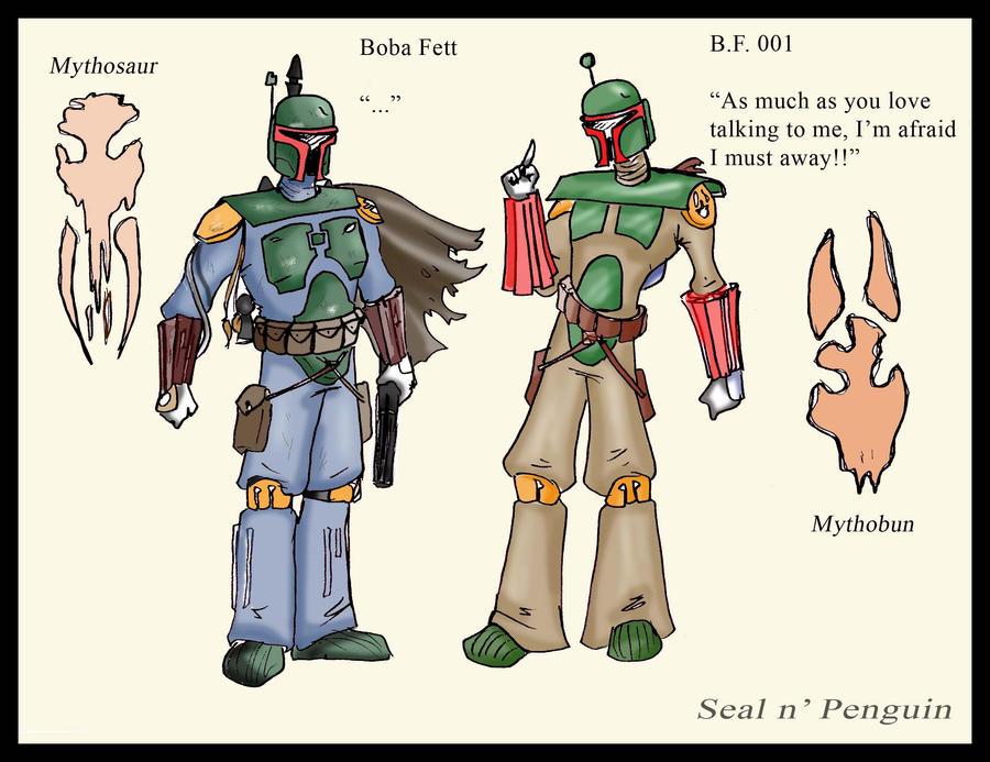 Boba Fett vs. B.F.001 by The-Flying-Penguin