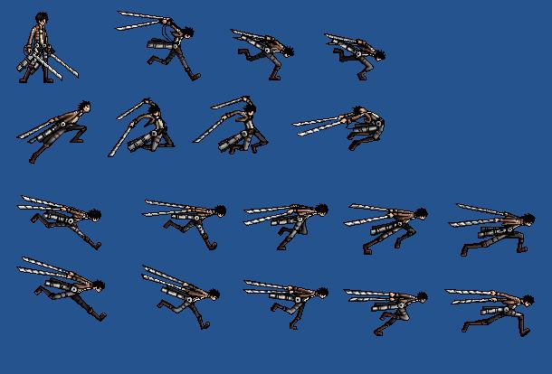 Eren Jaeger Sprite Sheet by Z-studios