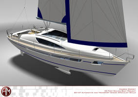 AM 40 Prestige Sailing Yacht by AndrewMooneyDesign