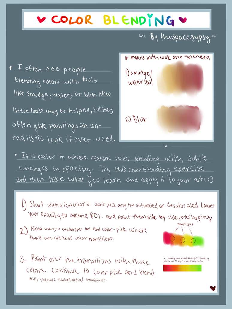 Simple Color Blending Tutorial by StarshipSorceress