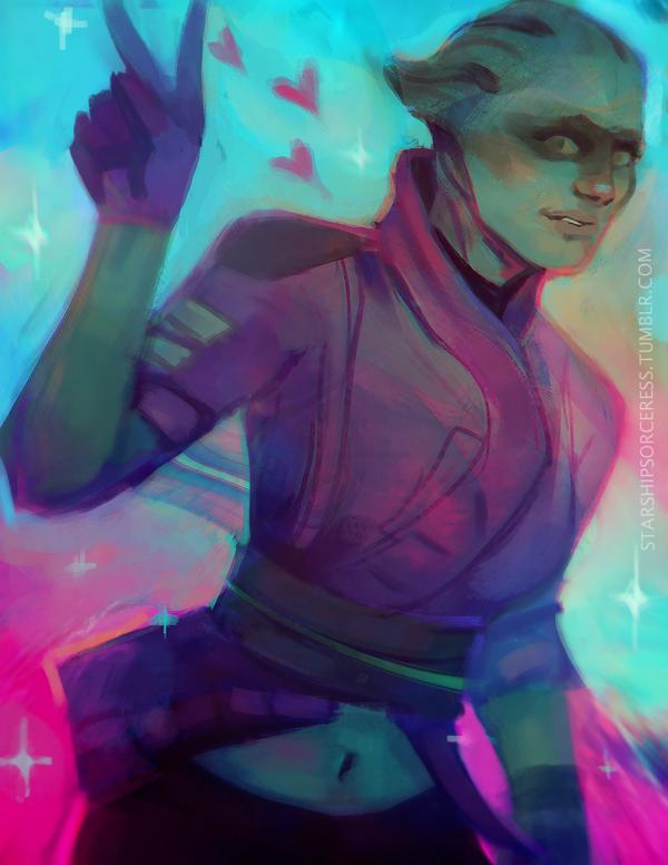 New Mass Effect Asari Crew Member is Nothing Like Liara
