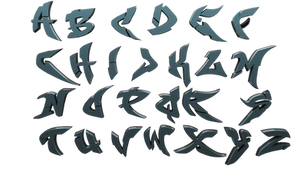 3D Alphabet Graffiti