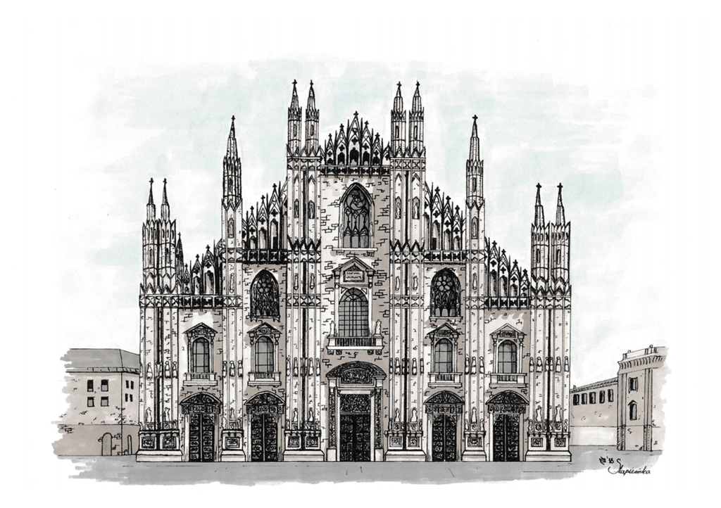 Milan Cathedral Colored by Sthenastia