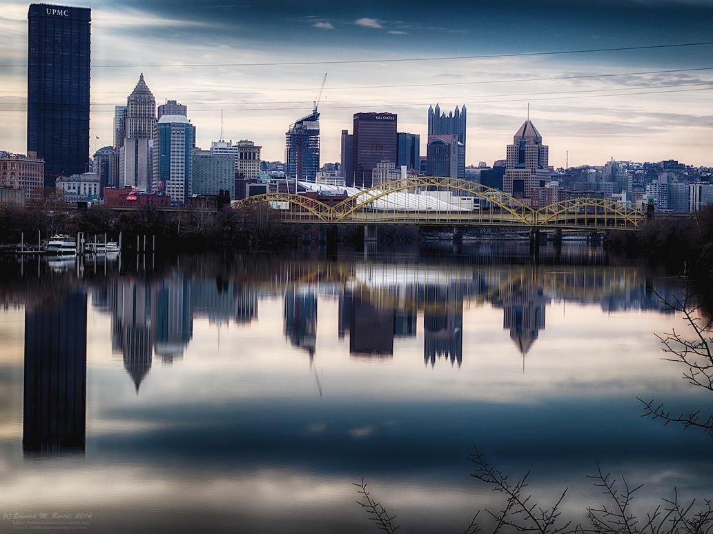 Pittsburgh Skyline by tmfNeurodancer