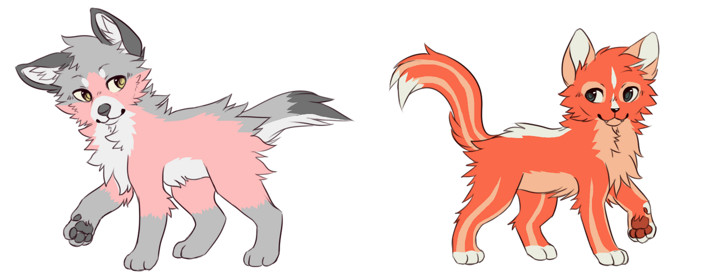Canine/feline -Fish colors- adoptables -CLOSED- by Skaylyt