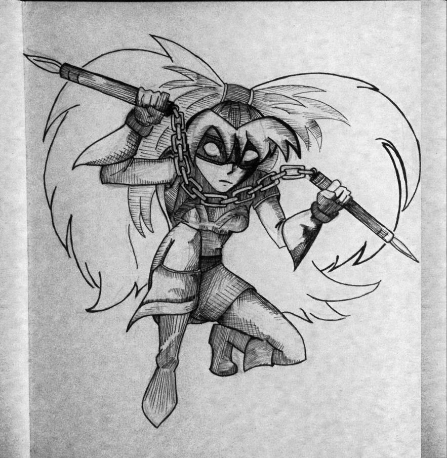 Manga Assassin Girl Ninja Warrior by drumfil