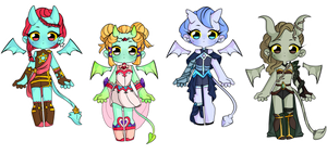 Mixed Demon Adopts for 60 POINTS (CLOSED) by all-adoptable
