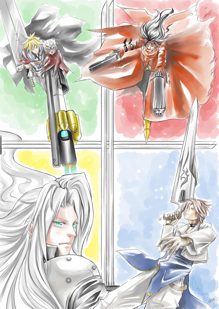 FF7 vs FF8 by omigoshi