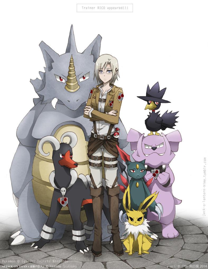 Attack On Titan Pokemon Doublade Trainer RICO! - SNK Po...