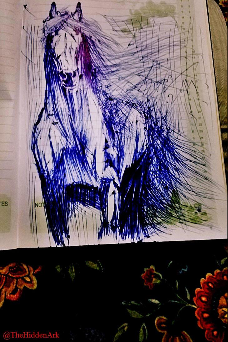 'Ink Horse' by TheHiddenArk