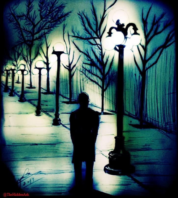 'Follow the street lights' by TheHiddenArk
