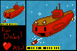 Dabs, the Little Red Submarine! by Azikira