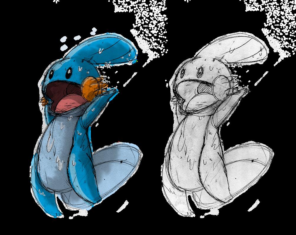 Mudkip Sketch by Sharkberry