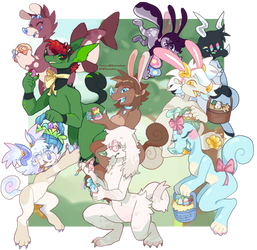 Easter chams! (Chimereon easter prompt 1) by Ryuuuhou