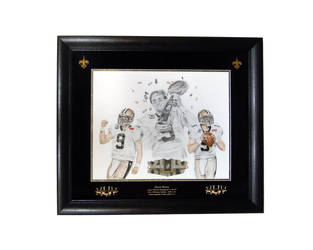 Drew Brees Super Bowl XLIV by CHaverlandArt