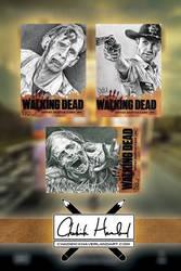 Walking Dead Sketch Cards by CHaverlandArt