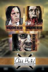 Walking Dead Sketch Cards 2 by CHaverlandArt
