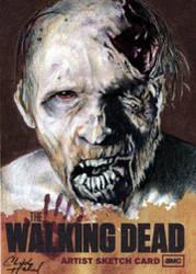 Walking Dead Season One Sketch Card Artist Proof by CHaverlandArt