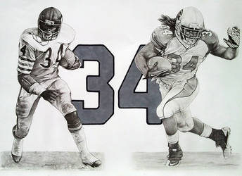 Williams/Payton-Past and Present by CHaverlandArt