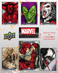 Marvel Beginnings Series 2 sketch cards by CHaverlandArt