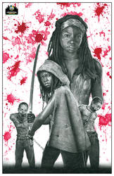 Michonne Wizard World Philly Exclusive art by CHaverlandArt