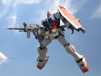 RX-78-2 Gundam _3dsmax by mokmaheim