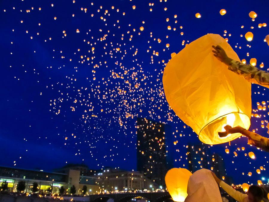 ArtPrize Paper Lanterns