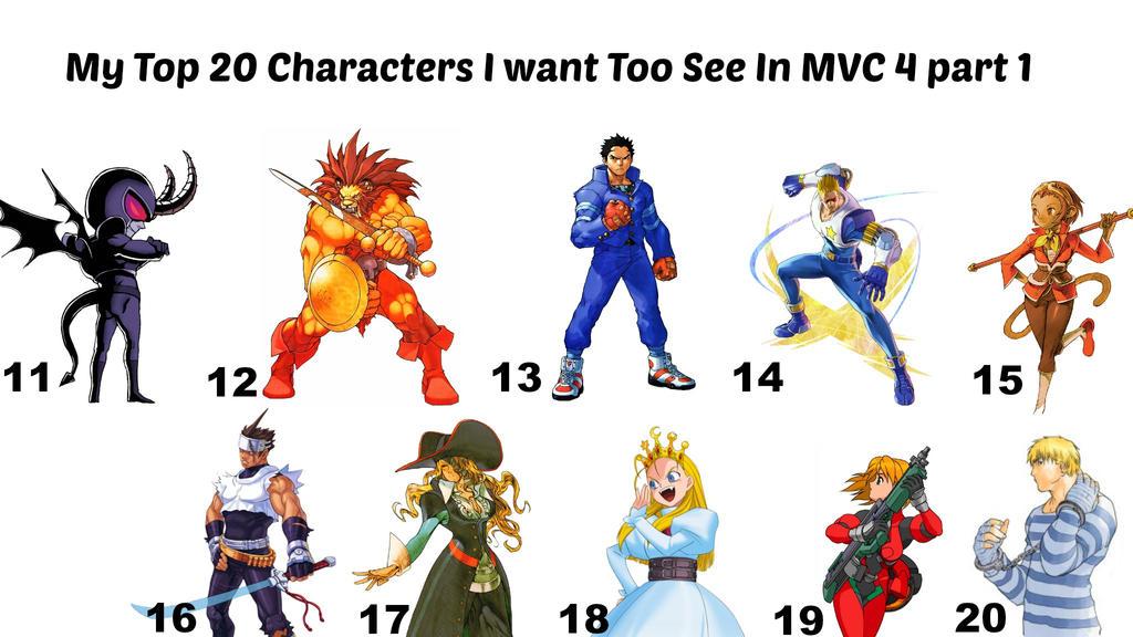 My Top 20 capcom Characters I want - 112.7KB