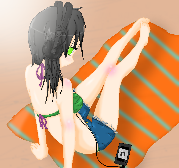 Kira At The Beach by alexpc901