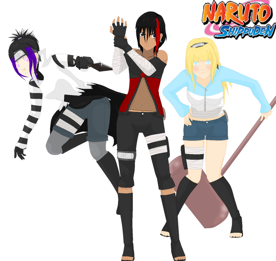 .:3 Girls Shippuden Revamp:. by alexpc901