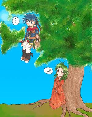 Ike in a tree? by kimiko-full by IkeFanatics