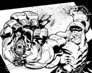 Hulk-Woverine Spread. by DexterVines