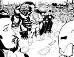 Hulk 1 Double page spread.