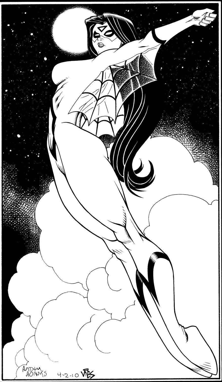 Spiderwoman Pinup by DexterVines